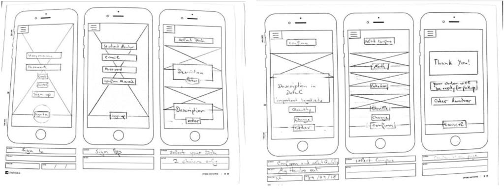 Humber eats app sketches